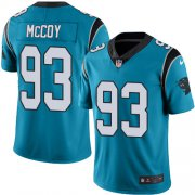 Wholesale Cheap Nike Panthers #93 Gerald McCoy Blue Men's Stitched NFL Limited Rush Jersey