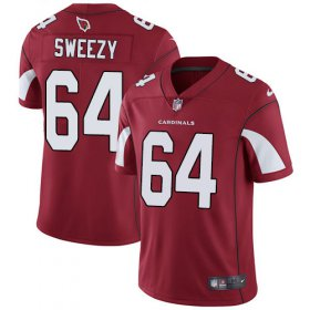 Wholesale Cheap Nike Cardinals #64 J.R. Sweezy Red Team Color Men\'s Stitched NFL Vapor Untouchable Limited Jersey