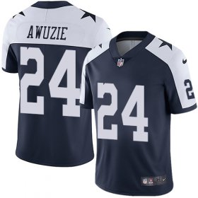 Wholesale Cheap Nike Cowboys #24 Chidobe Awuzie Navy Blue Thanksgiving Men\'s Stitched NFL Vapor Untouchable Limited Throwback Jersey
