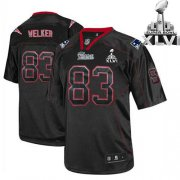 Wholesale Cheap Patriots #83 Wes Welker Lights Out Black Super Bowl XLVI Embroidered NFL Jersey
