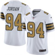 Wholesale Cheap Nike Saints #94 Cameron Jordan White Youth Stitched NFL Limited Rush Jersey