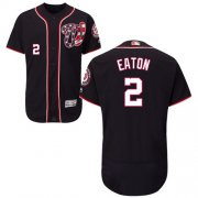 Wholesale Cheap Nationals #2 Adam Eaton Navy Blue Flexbase Authentic Collection Stitched MLB Jersey