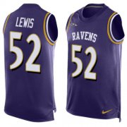Wholesale Cheap Nike Ravens #52 Ray Lewis Purple Team Color Men's Stitched NFL Limited Tank Top Jersey