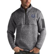 Wholesale Cheap Indianapolis Colts Antigua Fortune Quarter-Zip Pullover Jacket Charcoal