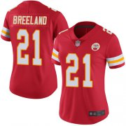 Wholesale Cheap Nike Chiefs #21 Bashaud Breeland Red Team Color Women's Stitched NFL Vapor Untouchable Limited Jersey