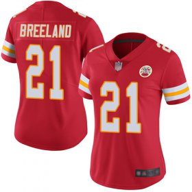 Wholesale Cheap Nike Chiefs #21 Bashaud Breeland Red Team Color Women\'s Stitched NFL Vapor Untouchable Limited Jersey
