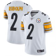 Wholesale Cheap Nike Steelers #2 Mason Rudolph White Men's Stitched NFL Vapor Untouchable Limited Jersey