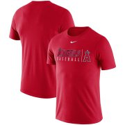 Wholesale Cheap Los Angeles Angels Nike MLB Practice T-Shirt Red