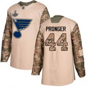 Wholesale Cheap Adidas Blues #44 Chris Pronger Camo Authentic 2017 Veterans Day Stanley Cup Champions Stitched NHL Jersey