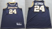 Wholesale Cheap Indiana Pacers #24 Paul George ABA Hardwood Classic Swingman Navy Blue Jersey
