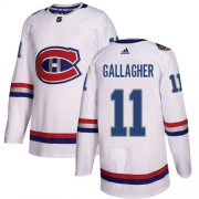 Wholesale Cheap Adidas Canadiens #11 Brendan Gallagher White Authentic 2017 100 Classic Stitched Youth NHL Jersey