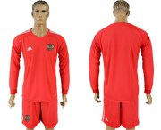 Wholesale Cheap Russia Blank Red Long Sleeves Goalkeeper Soccer Country Jersey