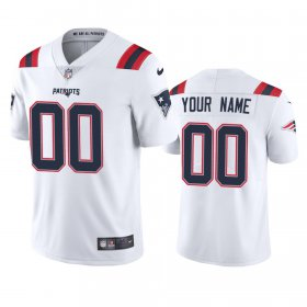 Wholesale Cheap New England Patriots Custom Men\'s Nike White 2020 Vapor Limited Jersey