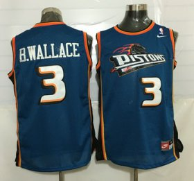 Wholesale Cheap Men\'s Detroit Pistons #3 Ben Wallace Teal Green Soul Swingman Jersey