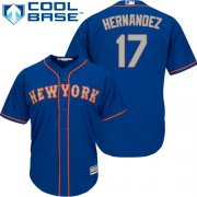 Wholesale Cheap Mets #17 Keith Hernandez Blue(Grey NO.) Cool Base Stitched Youth MLB Jersey