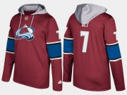 Wholesale Cheap Avalanche #7 Mark Alt Burgundy Name And Number Hoodie