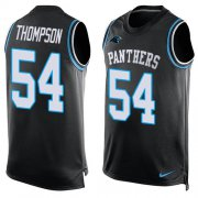 Wholesale Cheap Nike Panthers #54 Shaq Thompson Black Team Color Men's Stitched NFL Limited Tank Top Jersey