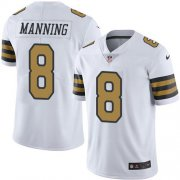 Wholesale Cheap Nike Saints #8 Archie Manning White Men's Stitched NFL Limited Rush Jersey