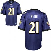 Wholesale Cheap Ravens #21 Lardarius Webb Purple Stitched NFL Jersey