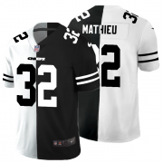 Cheap Kansas City Chiefs #32 Tyrann Mathieu Men's Black V White Peace Split Nike Vapor Untouchable Limited NFL Jersey