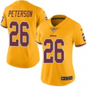 Wholesale Cheap Nike Redskins #26 Adrian Peterson Gold Women's Stitched NFL Limited Rush Jersey