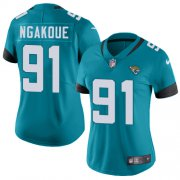 Wholesale Cheap Nike Jaguars #91 Yannick Ngakoue Teal Green Alternate Women's Stitched NFL Vapor Untouchable Limited Jersey