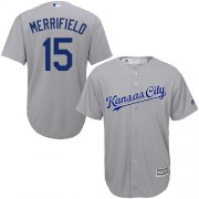 Wholesale Cheap Royals #15 Whit Merrifield Grey New Cool Base Stitched MLB Jersey