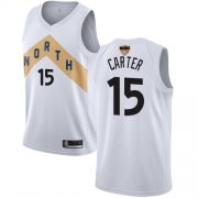 Wholesale Cheap Raptors #15 Vince Carter White 2019 Finals Bound Basketball Swingman City Edition 2018-19 Jersey