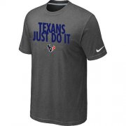 Wholesale Cheap Nike Houston Texans Just Do It Dark Grey T-Shirt