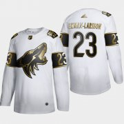Wholesale Cheap Arizona Coyotes #23 Oliver Ekman-Larsson Men's Adidas White Golden Edition Limited Stitched NHL Jersey