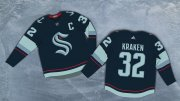 Wholesale Cheap Seattle Kraken #32 Kraken Adidas 2020 New Team Navy Home Authentic Stitched NHL Jersey