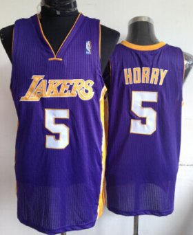 Wholesale Cheap Los Angeles Lakers #5 Robert Horry Purple Swingman Throwback Jersey