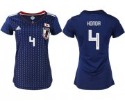 Wholesale Cheap Women's Japan #4 Honda Home Soccer Country Jersey