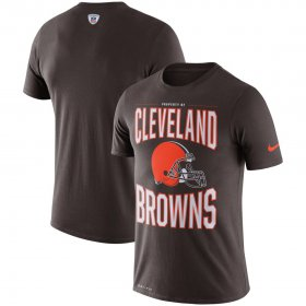 Wholesale Cheap Cleveland Browns Nike Team Logo Sideline Property Of Performance T-Shirt Brown