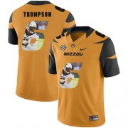 Wholesale Cheap Missouri Tigers 6 Khmari Thompson Gold Nike Fashion College Football Jersey