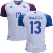Wholesale Cheap Iceland #13 Runarsson Away Soccer Country Jersey