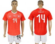 Wholesale Cheap Switzerland #14 Zuber Red Home Soccer Country Jersey