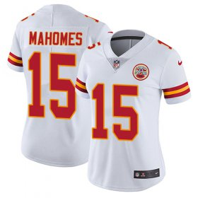 Wholesale Cheap Nike Chiefs #15 Patrick Mahomes White Women\'s Stitched NFL Vapor Untouchable Limited Jersey