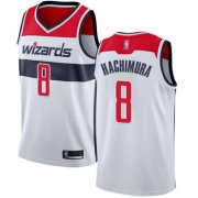 Wholesale Cheap Wizards #8 Rui Hachimura White Basketball Swingman Association Edition Jersey