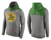Wholesale Cheap Men's Oakland Athletics Nike Gray Cooperstown Collection Hybrid Pullover Hoodie