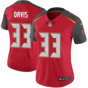 Wholesale Cheap Nike Buccaneers #33 Carlton Davis III Red Team Color Women's Stitched NFL Vapor Untouchable Limited Jersey