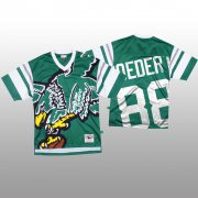 Wholesale Cheap NFL Philadelphia Eagles #88 Dallas Goedert Green Men's Mitchell & Nell Big Face Fashion Limited NFL Jersey