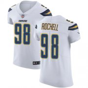 Wholesale Cheap Nike Chargers #98 Isaac Rochell White Men's Stitched NFL Vapor Untouchable Elite Jersey