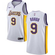 Wholesale Cheap Nike Los Angeles Lakers #9 Rajon Rondo White NBA Swingman Association Edition Jersey