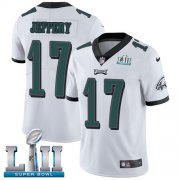 Wholesale Cheap Nike Eagles #17 Alshon Jeffery White Super Bowl LII Youth Stitched NFL Vapor Untouchable Limited Jersey