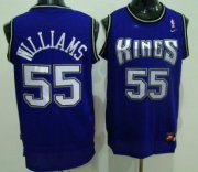 Wholesale Cheap Sacramento Kings #55 Jason Williams Purple Swingman Jersey