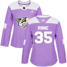 Wholesale Cheap Adidas Predators #35 Pekka Rinne Purple Authentic Fights Cancer Women\'s Stitched NHL Jersey