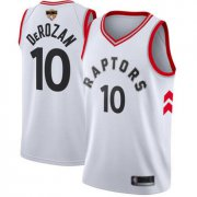 Wholesale Cheap Raptors #10 DeMar DeRozan White Association Edition 2019 Finals Bound Basketball Swingman Jersey