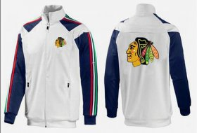 Wholesale Cheap NHL Chicago Blackhawks Zip Jackets White-2