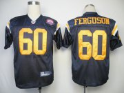 Wholesale Cheap Jets #60 D'Brickashaw Ferguson Dark Blue With AFL 50TH Patch Stitched NFL Jersey
